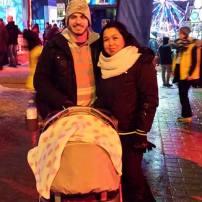 Alexa 1 mois et demi première grosse sortie😆 Mtl en lumières (le monde étais vrm pas courtois) #freethebaby