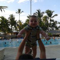 Voyage à Punta Cana avec Cédric, 4 mois