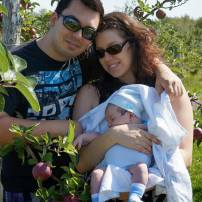 Aux pommes avec bébé de 3 semaines!