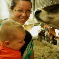 Charles-Azarie à la ferme, Yamachiche - 7 mois