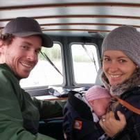 Premier voyage en bateau pour lili 3 semaines, on va à l'île aux lièvres (rivière du loup) :-)