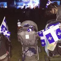 Notre St-Jean a nous! :) Trois maman et des ptits homme entre 4 mois et 11 mois tous avec leur coquille et bien habillé sa dormais en titi hihi! À Victoriaville